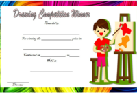 Drawing Competition Winner Certificate Template Free 3 throughout Drawing Competition Certificate Templates