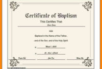 √ 20 Baptism Certificate Template Download intended for Baptism Certificate Template Word 9 Fresh Ideas
