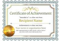 ❤️ Free Sample Certificate Of Achievement Template❤️ inside Unique Certificate Of Achievement Template Word
