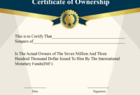 ❤️5+ Free Sample Of Certificate Of Ownership Form Template❤️ inside Unique Download Ownership Certificate Templates Editable
