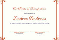❤️Free Certificate Of Recognition Template Sample❤️ for Unique Recognition Certificate Editable