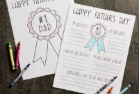 Easy Father'S Day Crafts Kids Can Make | Better Homes & Gardens throughout Certificate For Best Dad 9 Best Template Choices
