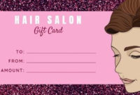 Easy To Edit Hair Salon Gift Certificates. throughout Unique Hair Salon Gift Certificate Templates