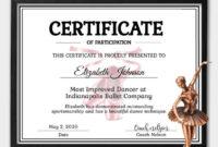 Editable Ballett Zertifikat Vorlage – Instant Download Dance Zertifikat  Vorlage – Zertifikat Der Teilnahme – Personalisierte Zertifikat throughout Unique Ballet Certificate Template