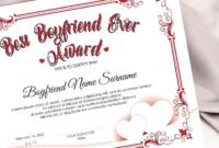 Editable Best Boyfriend Ever Award Template Valentines Day throughout Best Best Boyfriend Certificate Template