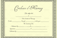 Editable Blank Marriage Certificate Templates – For Word regarding Marriage Certificate Editable Template