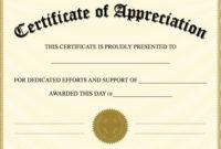Editable Certificate Of Appreciation Template | Editable for Recognition Certificate Editable