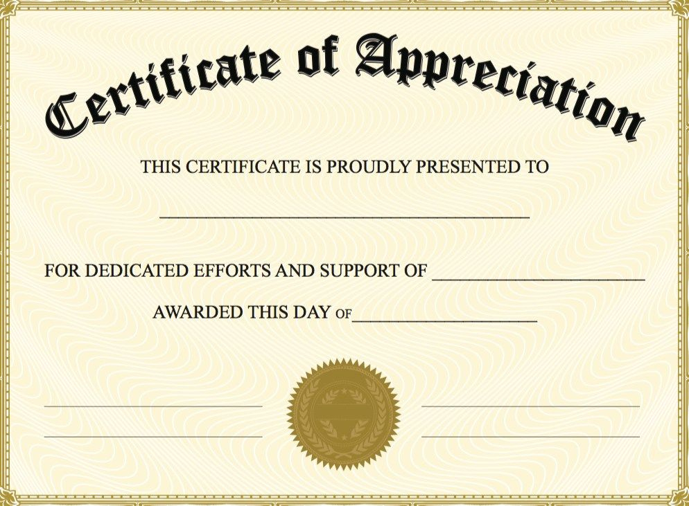 Editable Certificate Of Appreciation Template | Editable intended for Editable Certificate Of Appreciation Templates