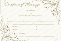 Editable Marriage Certificate Templates (Make Your Own in Fresh Marriage Certificate Editable Templates
