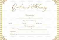 Editable Marriage Certificate Templates (Make Your Own within Marriage Certificate Editable Templates
