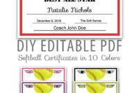 Editable Pdf Sports Team Softball Certificate Award Template pertaining to Best Free Softball Certificates Printable 10 Designs