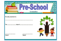 Editable Preschool Graduation Certificate Template Free 3 In within Pre K Diploma Certificate Editable Templates