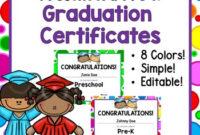 Editable Preschool & Pre-K Graduation Certificates! for Editable Pre K Graduation Certificates