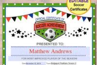 Editable Soccer Award Certificates Instant Download Team regarding Unique 10 Sportsmanship Certificate Templates Free