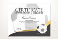Editable Soccer Football Certificate Template Sport | Etsy for Soccer Certificate Template Free 21 Ideas