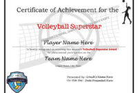 Editable Volleyball Certificates-Digital Downloadable Printable & Create  Your Own Award Template for Unique Volleyball Certificate Template Free