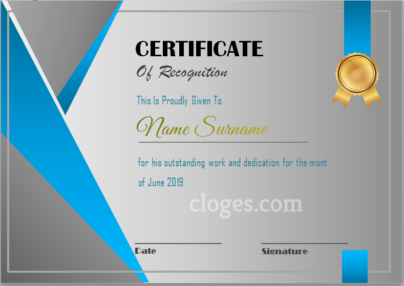 Editable Word Certificate Of Participation Template For Recognition Certificate Editable