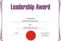 Education Certificate – Leadership Award Template throughout Unique Leadership Award Certificate Templates