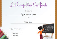 Education Certificates – Art Competition Certificate for Fresh Drawing Competition Certificate Templates