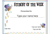 Education Certificates – Student Of The Week with regard to Best Student Of The Week Certificate Templates