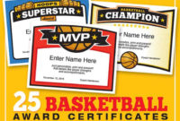 Elite Basketball Award Certificate Templates, Boys And Girls pertaining to Unique Basketball Mvp Certificate Template