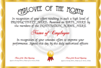 Employee Of The Month Certificate Designer | Free with regard to Fresh Employee Of The Month Certificate Templates