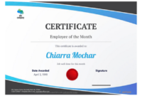 Employee Of The Month Certificate Template – Pdf Templates throughout Employee Of The Month Certificate Template Word