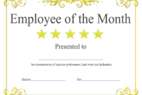 Employee Of The Month Certificate Template With Picture (2 intended for Employee Of The Month Certificate Templates