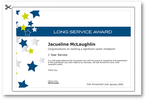 Employee Recognition Certificate Templates - Free Online Tool Intended For Fresh Long Service Award Certificate Templates
