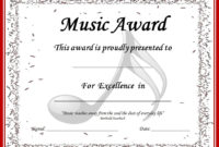 End Of The Year Music Awards: *Editable* Music Award in Best Piano Certificate Template Free Printable