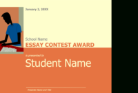 Essay Contest Award with Essay Writing Competition Certificate 9 Designs
