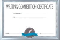 Essay Writing Competition Certificate Template Free 2 within Fresh Writing Competition Certificate Templates