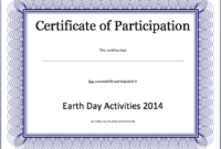 Event Participation Certificate Template – Free Template inside Participation Certificate Templates Free Printable