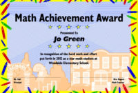 Excel Math: Printable Math Certificates And Awards intended for Fresh 9 Math Achievement Certificate Template Ideas