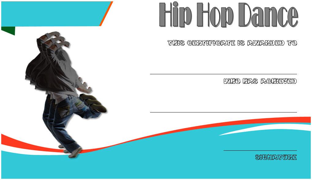 Extraordinary Hip Hop Dance Certificate Template Free In Inside Hip Hop Dance Certificate Templates