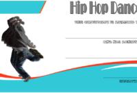 Extraordinary Hip Hop Dance Certificate Template Free In within Fresh Hip Hop Certificate Templates