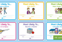 Eyfs Most Likely To End Of Year Certificates with regard to Best Most Likely To Certificate Template 9 Ideas