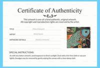 🥰Certificate Of Authenticity Template Sample & Example🥰 with regard to Certificate Of Authenticity Templates