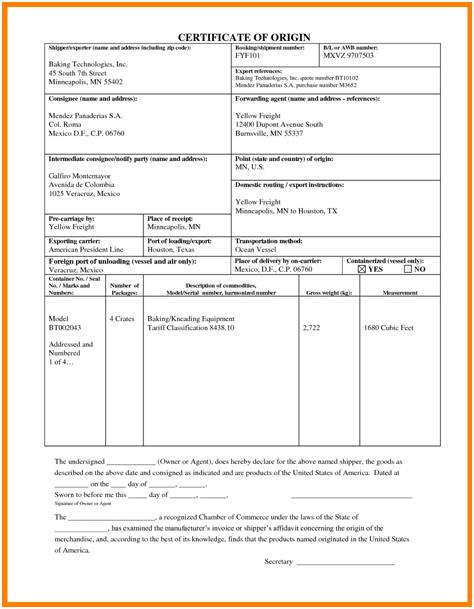 🥰Free Printable Certificate Of Origin Form Template [Pdf Intended For Best Certificate Of Origin Template