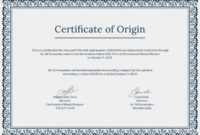 🥰Free Printable Certificate Of Origin Form Template [Pdf regarding Certificate Of Origin Template Ideas Free