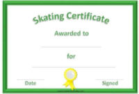 Fee Editable Skating Award Certificate | Instant Download within Ice Skating Certificates