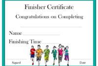 Finisher Certificate | Certificate Templates, Award for Finisher Certificate Templates