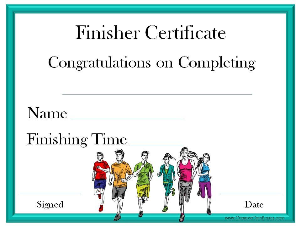 Finisher Certificate   Certificate Templates, Award For Finisher Certificate Templates