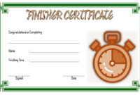 Finisher Certificate Template Free 1 In 2020 | Certificate for Fresh Finisher Certificate Templates