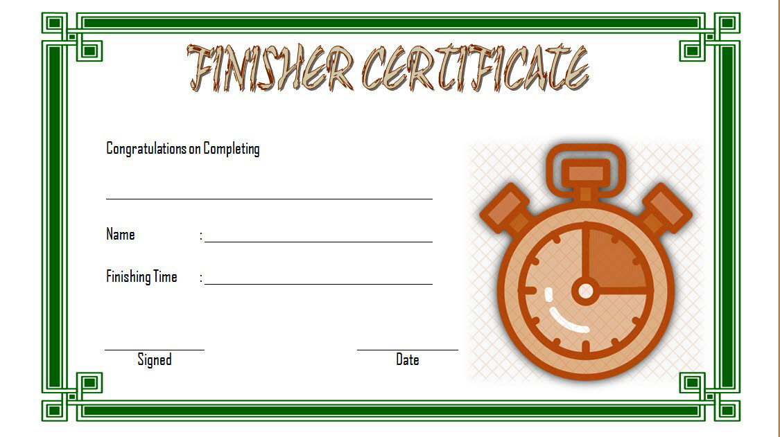 Finisher Certificate Template Free 1 In 2020 | Certificate Intended For Fresh 5K Race Certificate Template 7 Extraordinary Ideas