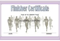 Finisher Certificate Template Free 5 In 2020 | Certificate inside Fresh Finisher Certificate Templates