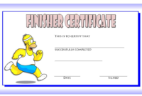 Finisher Certificate Template Free 6 In 2020 | Certificate pertaining to Finisher Certificate Templates