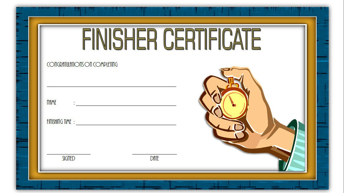 Finisher Certificate Template Free 7 In 2020 | Certificate In Best Finisher Certificate Template