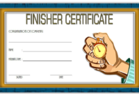 Finisher Certificate Template Free 7 In 2020 | Certificate with Fresh 5K Race Certificate Template 7 Extraordinary Ideas