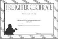 Fire Department Certificate Template Free 1 | Certificate in Firefighter Certificate Template